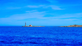 Beacon in Illa Des Porcs in Formentera, Balearic Islands, Spain Stock Image