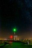 Beacon at Lake Balaton in the night. Beacon at Lake Balaton of Hungary in the night Royalty Free Stock Images