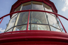 Beacon. Lamp compartment of a lighthouse stock photography