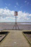 Beacon on a lifeboat jetty Stock Photography