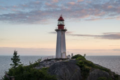 Beacon of light. The lighthouse in lighthouse park, vancouver, BC Stock Photos