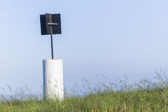Beacon Marker Hilltop Countryside Royalty Free Stock Images