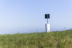 Beacon Marker Hilltop Mapping Royalty Free Stock Image