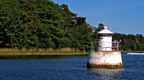 Beacon Near Vaxholm Royalty Free Stock Photo