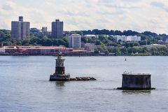 Beacon in New York Harbor. A Navigation Beacon in New York Harbor Royalty Free Stock Images