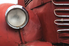 Beacon. Old bus beacon details, red aged metal around it Royalty Free Stock Photos