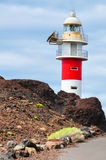 Beacon Punto del Teno at Tenerife, Canaries Royalty Free Stock Photos