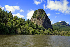 Beacon Rock on Columbia River Royalty Free Stock Photography
