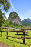 Beacon Rock Columbia River Gorge WA. stock images