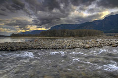 Beacon Rock State Park River View. Columbia River from Beacon Rock State Park Royalty Free Stock Photography
