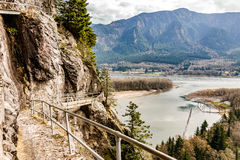 Beacon Rock trail. Columbia River as seen from Beacon Rock trail Royalty Free Stock Photos