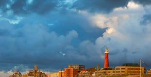 Beacon on the seashore Royalty Free Stock Image