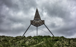 Beacon in Skagen in the northern part of Denmark Royalty Free Stock Photos