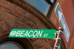 Beacon street. Sign in famous Boston neighborhood Stock Photography