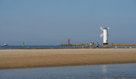 Beacon in Swinoujscie Royalty Free Stock Photography