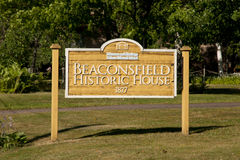 Beaconsfield Historic House Sign - Charlottetown - Canada. Beaconsfield Historic House Sign in Charlottetown - Canada Royalty Free Stock Images