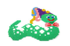 Bead arts in the shap of animal Stock Images