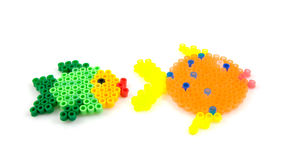 Bead arts in the shap of fish Royalty Free Stock Photo