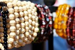Bead bangles in shop of surajkund fair stock photos