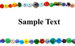 Bead border Royalty Free Stock Photography