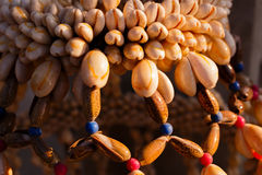 Bead crafts made from shellfish. Stock Image