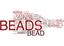 Bead Crafts Word Cloud Concept Stock Images