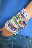 Bead crochet bracelets Stock Images