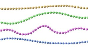 Bead decoration with beads. Isolated on a background. Vector illustration vector illustration