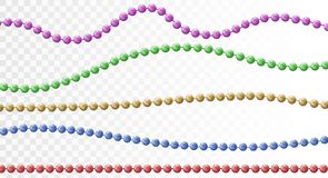 Bead decoration with beads vector illustration