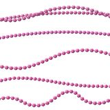 Bead decoration with beads. Isolated on a background. Vector illustration stock illustration