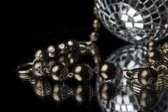 Bead with disco ball Stock Image