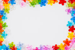 Bead Frame. A Colorfull Bead Frame Isolated royalty free stock photography