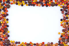 Bead Frame. A Colorfull Bead Frame Isolated stock photography