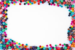 Bead Frame. A Colorfull Bead Frame Isolated royalty free stock photos