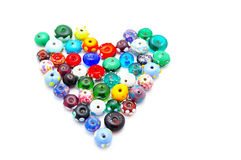 Bead heart Royalty Free Stock Photography