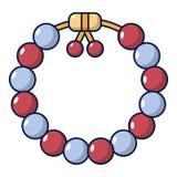 Bead icon, cartoon style. Bead icon. Cartoon illustration of bead vector icon for web design stock illustration