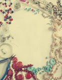 Bead making accessories background Stock Photography