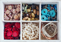 Bead making accessories background Stock Images
