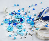 Bead making accessories Royalty Free Stock Photos