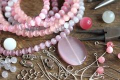Bead making accessories Stock Photo