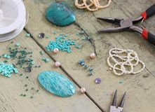 Bead making accessories Stock Photos