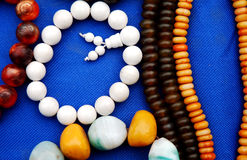 Bead necklace Stock Photo