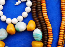 Bead necklace Stock Images