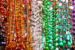 Bead necklaces Stock Images