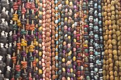 Bead Necklaces. Hanging for sale in a market in Mexico Royalty Free Stock Photo