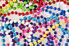 Bead Necklaces. Close up of selection of bright and colourful beaded necklaces Stock Image