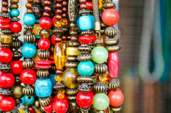 Bead necklaces Stock Photography