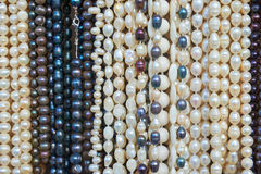 Bead necklaces displayed for sale Stock Image