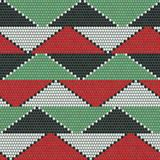 African bead ornaments. Abstract seamless pattern. Royalty Free Stock Image