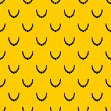 Bead pattern vector. Bead pattern seamless vector repeat geometric yellow for any design vector illustration